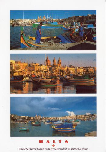 "The ""luzzu"", the traditional colourful fishing boats from the Maltese islands"