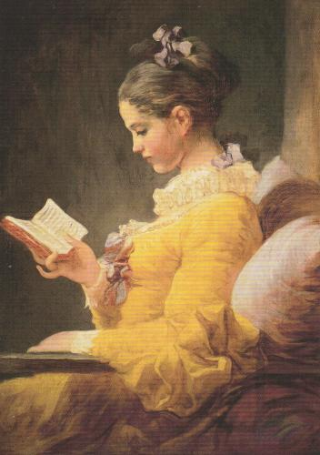Young girl reading (appr. 1776 / Jean-Honoré Fragonard 1732-1806)