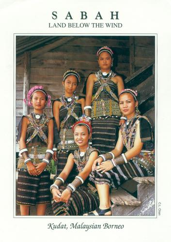 """The Rungus people,living mainly in northern Sabah,near Kudat,are famed for their intricate and decorative beadwork,an integral part of the traditional costume""