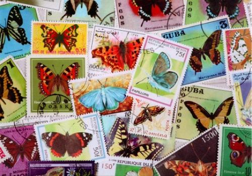 """Butterfly postage stamps from the world""