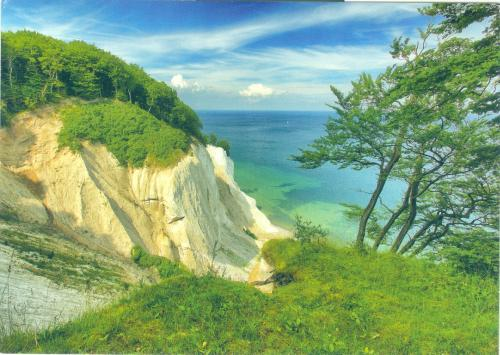 """Chalk cliffs on the Baltic Sea""