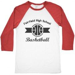 Basketball Ribbon Logo