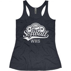 Softball Initials Tank