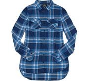Burnside Ladies Long Sleeve Plaid Flannel Shirt